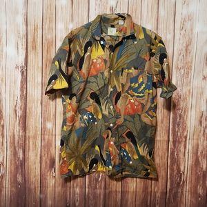 Vtg Wyoming reds tropical shirt